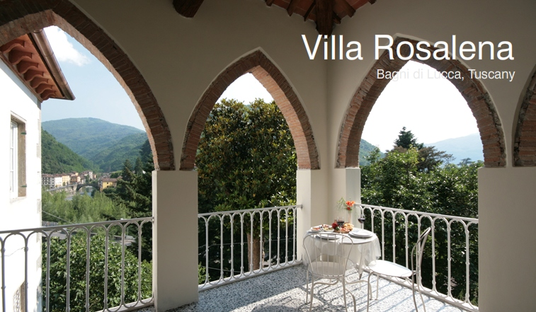 Villa Rosalena bed and breakfast guesthouse accommodation in Bagni di Luicca Tuscany Italy